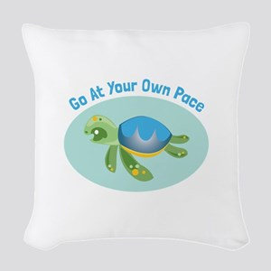Go at Your Own Pace Woven Throw Pillow
