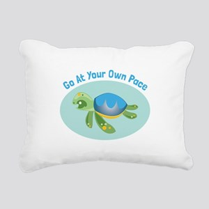 Go at Your Own Pace Rectangular Canvas Pillow