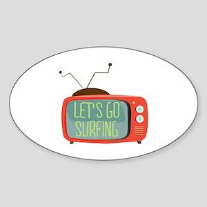Let's go Surfing Sticker