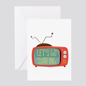 Let's go Surfing Greeting Cards