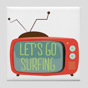 Let's go Surfing Tile Coaster