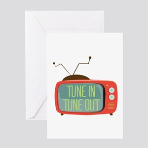 Tune In Tune Out Greeting Cards