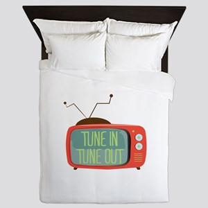 Tune In Tune Out Queen Duvet