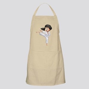 A young woman doing karate Apron