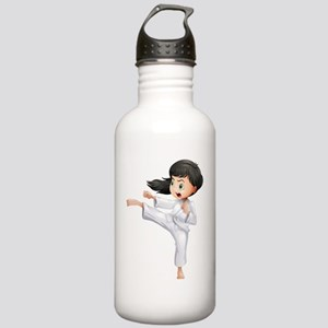 A young woman doing ka Stainless Water Bottle 1.0L