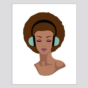 Woman In Headphones Posters