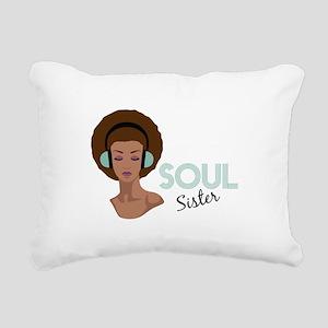 Soul Sister Rectangular Canvas Pillow
