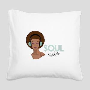 Soul Sister Square Canvas Pillow