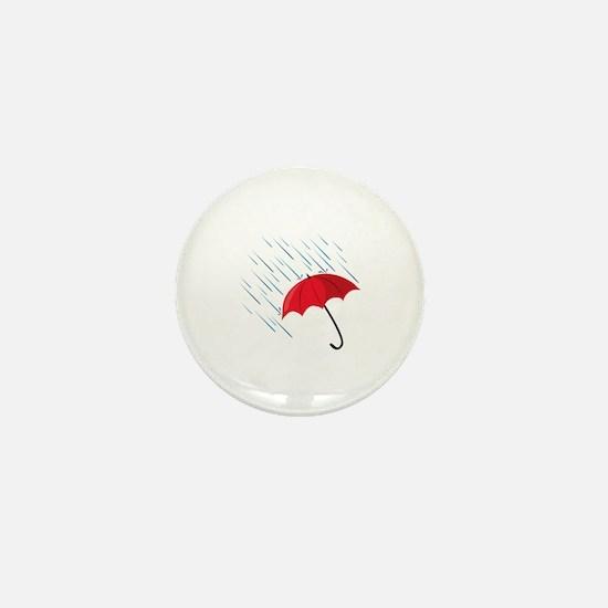 Rain Umbrella Mini Button