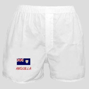 Anguilla Flag Artistic Red Design Boxer Shorts