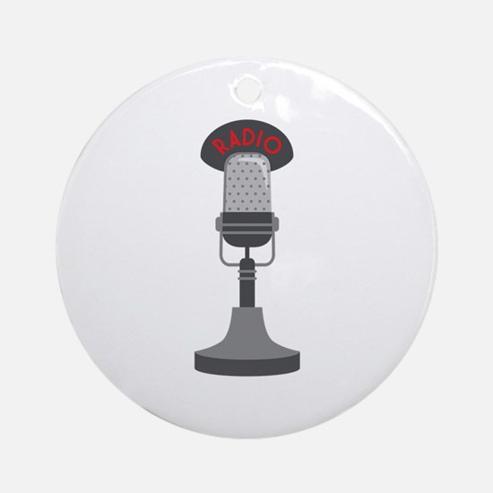 Radio Microphone Ornament (Round)