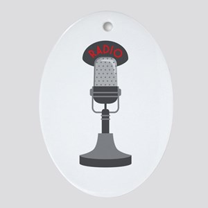 Radio Microphone Ornament (Oval)