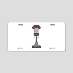 Radio Microphone Aluminum License Plate