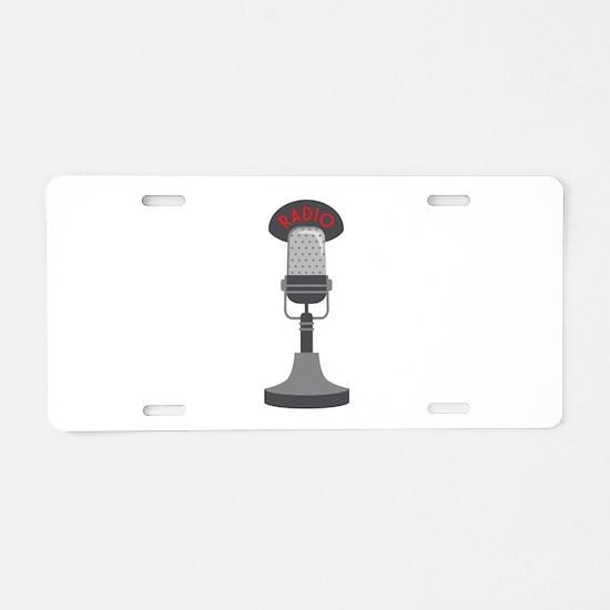 Radio Microphone Aluminum License Plate