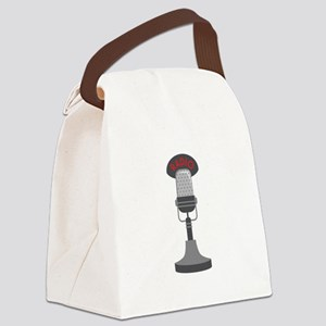 Radio Microphone Canvas Lunch Bag