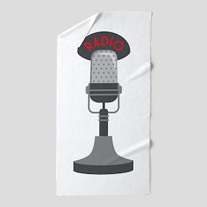 Radio Microphone Beach Towel
