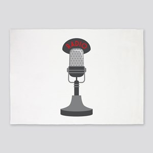 Radio Microphone 5'x7'Area Rug