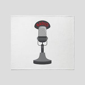 Radio Microphone Throw Blanket