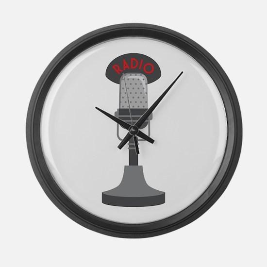 Radio Microphone Large Wall Clock
