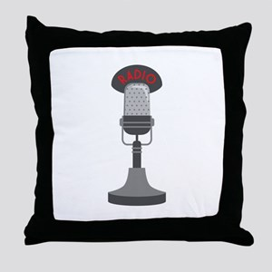 Radio Microphone Throw Pillow