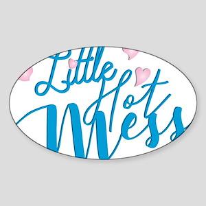 Litte Hot Mess blue Sticker
