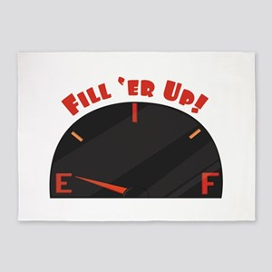 Fill Er Up 5'x7'Area Rug