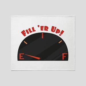 Fill Er Up Throw Blanket
