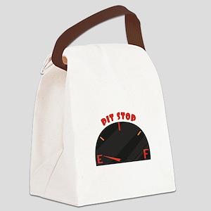 Pit Stop Canvas Lunch Bag