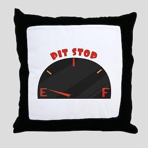 Pit Stop Throw Pillow