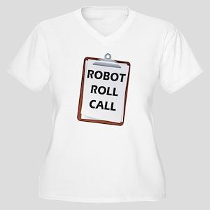 Robot Roll Call Women's Plus Size V-Neck T-Shirt