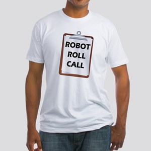 Robot Roll Call Fitted T-Shirt
