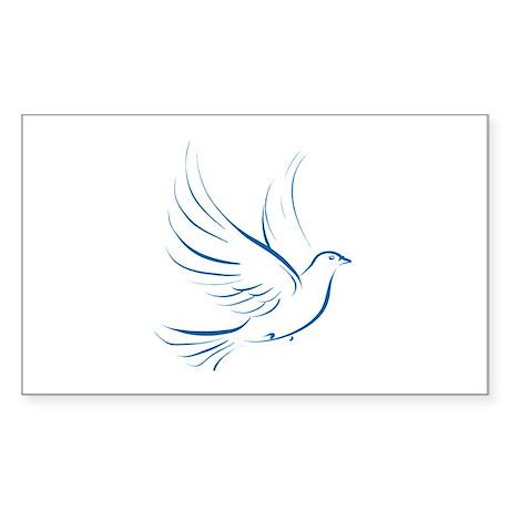 Dove of Peace Rectangle Sticker