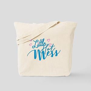 Litte Hot Mess blue Tote Bag