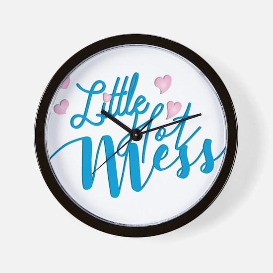 Litte Hot Mess blue Wall Clock