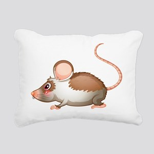 A side view of a rat Rectangular Canvas Pillow