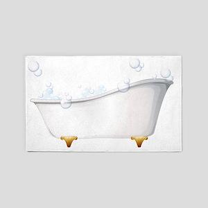 A bathtub 3'x5' Area Rug