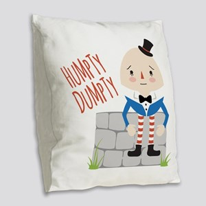 Humpty Dumpty Burlap Throw Pillow