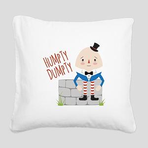 Humpty Dumpty Square Canvas Pillow