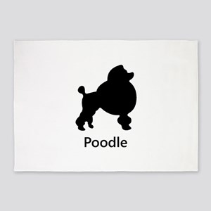 Poodle Silhouette 5'x7'Area Rug