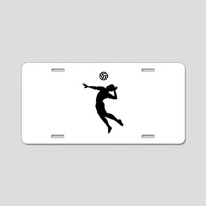 Volleyball player Aluminum License Plate