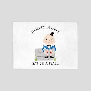 Sat On A Wall 5'x7'Area Rug