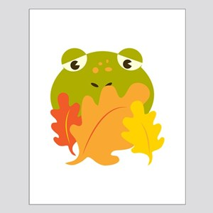 Frog In Leaves Posters