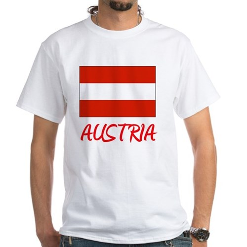 Austria Flag Artistic Red Design T-Shirt