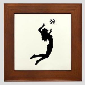 Volleyball girl Framed Tile
