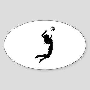 Volleyball girl Sticker (Oval)