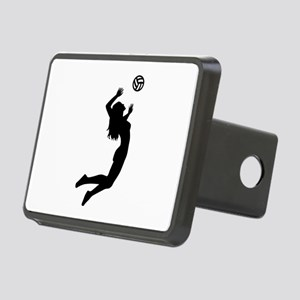 Volleyball girl Rectangular Hitch Cover