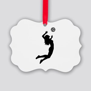 Volleyball girl Picture Ornament