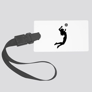 Volleyball girl Large Luggage Tag