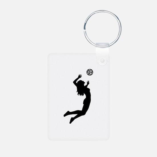 Volleyball girl Keychains