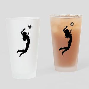 Volleyball girl Drinking Glass